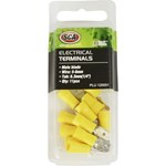 SCA Crimp Terminal - 6.3mm Yellow Male Blade - 11 pack