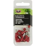 SCA Crimp Terminal - 2.8mm Red Female Blade - 18 pack