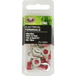SCA Crimp Terminal - 6.3mm Red Ring - 16 pack