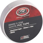 SCA PVC Tape - White, 18mm X 10m