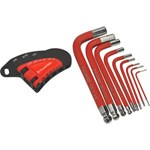 HEX KEY SET 9PCE SHORT ARM SAE TOOLPRO