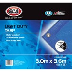 "SCA Light Duty Blue Tarp - 80 GSM - 10"" X 12"" (3.0m X 3.6m)"
