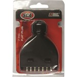 SCA Male 7 Pin Flat Plastic Trailer Plug