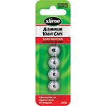 VALVE CAPS ANODISED SILVER 4PK SLIME