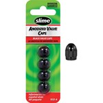 Slime Valve Caps - Anodised Black - 4 Piece