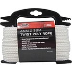 SCA 3 Strand Twist Poly Rope - 4mm X 33m