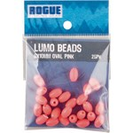 Rogue Pink Oval Lumo Beads - 5 x 8mm - 25 Pack