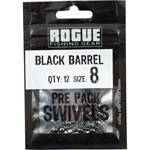 Rogue Black Barrel Snap Swivel - Size 8 - 12 Pack