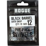 Rogue Black Barrel Snap Swivel - Size 12 - 10 Pack