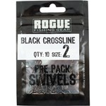 SWIVEL C/LINE BLACK SZ2 PK10 ROGUE
