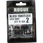 Rogue Black Coastlock Swivel - Size 2 - 10 Pack