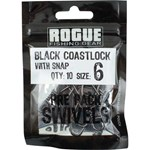 Rogue Black Coastlock Swivel - Size 6 - 10 Pack