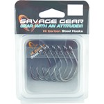 Savage Black Nickel Circle Hooks - Size 1/0 - 6 Pack